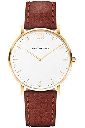 Paul Hewitt Reloj de Caballero Sailor White Sand - Reloj de Hombre de Acero Inoxidable (Oro)