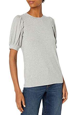 Daily Ritual Rayon Spandex Wide Rib Puff Sleeve Top Shirts S