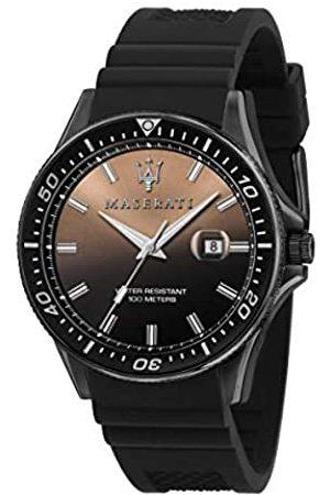 Maserati Reloj para Hombre, Colección Sfida, en Acero Inoxidable, Silicona