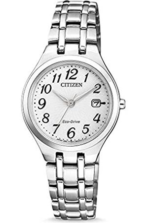 Citizen Reloj Analogico para Mujer de Energía Solar con Correa en Acero Inoxidable EW2480-83A