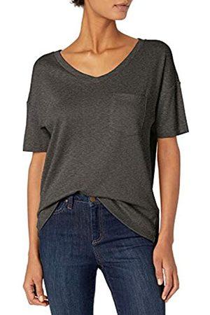 Daily Ritual Cotton Modal Stretch Slub Short-Sleeve V-Neck Pocket T-Shirt Fashion-t-Shirts