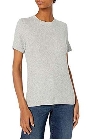 Daily Ritual Rayon Spandex Fine Rib Crew Neck Short-Sleeve Band Shirt Shirts