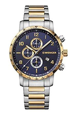 Wenger Hombre Attitude Chronograph - Reloj de Acero Inoxidable de Cuarzo analógico de fabricación Suiza 01.1543.112