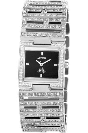 Akzent 185921000002 - Reloj analógico de mujer de cuarzo con correa de aleación plateada - sumergible a 30 metros