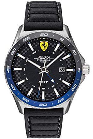 Scuderia Ferrari Reloj Analógico para Hombre de Cuarzo con Correa en Piel de Becerro de Cuero 0830775