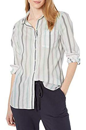 Goodthreads Cotton Dobby Long-Sleeve Button-Front Tunic Shirt Shirts XS