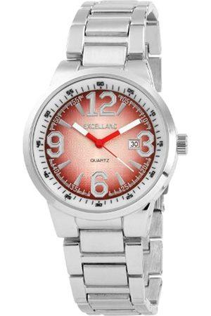 Excellanc 284027000117 - Reloj analógico de caballero de cuarzo con correa de aleación plateada