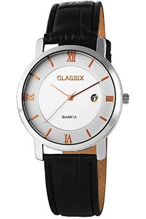 Classix Reloj Analógico para Hombre de Cuarzo con Correa en Cuero RP3102200002