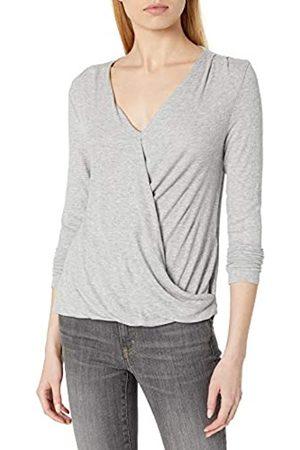 Daily Ritual Rayon Spandex Fine Rib Draped Long-Sleeve Top Camisa XL