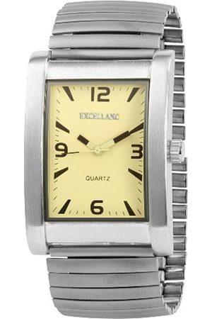 Excellanc 272427500018 - Reloj analógico de caballero de cuarzo con correa de aleación plateada