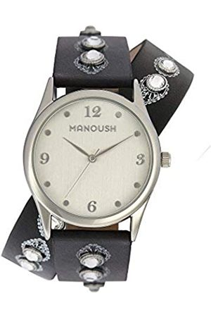 Manoush RelojAnalógicoparaUnisexAdultosdeCuarzoconCorreaenPUMSHDI01