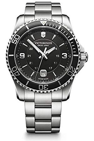 Victorinox Hombre Maverick - Reloj cronógrafo de Cuarzo Suizo con Correa de Acero Inoxidable 241697