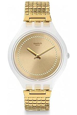 Swatch Reloj Analogico para Unisex de Cuarzo con Correa en Acero Inoxidable SVOW104GB