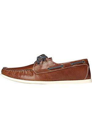 FIND Hombre Loafers - Naúticos de Piel para Hombre, (Tan)