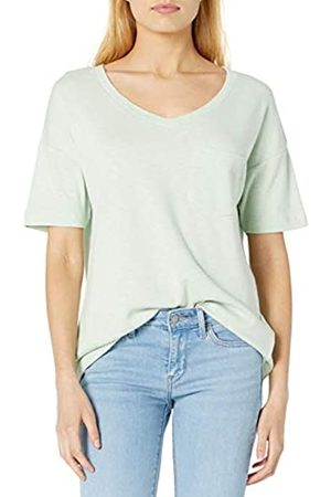 Daily Ritual Cotton Modal Stretch Slub Short-Sleeve V-Neck Pocket T-Shirt Athletic-Shirts