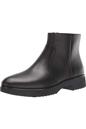 FitFlop Maria Welted Ankle Bootie-Leather, Botines Mujer, Black (All Black 090)