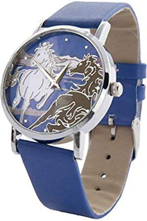 Hkm Hombre Reloj de Pulsera – Horse, Todo el año, Hombre, Color - Silber/königsblau
