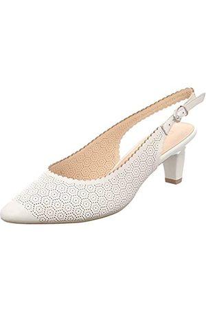 Caprice Cristina, Zapatos de Talón Abierto Mujer, (White Perlato 139)