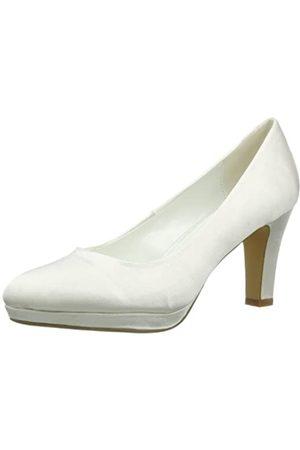 Victoria Delef Bridal Shoes, Sandalias con Plataforma Mujer, (Weiß