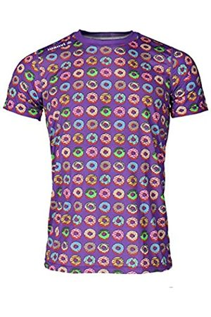 Luanvi Camiseta de Manga Corta Estampado Rosquillas Edición 2019, Hombre