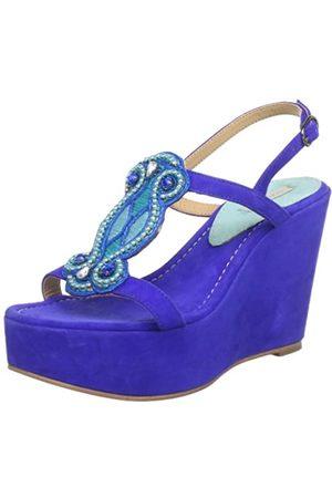 Coral Blue Mujer Sandalias - CB.K213.021 PLA, Sandalias con Plataforma Mujer, (Blau (Blue BLU)