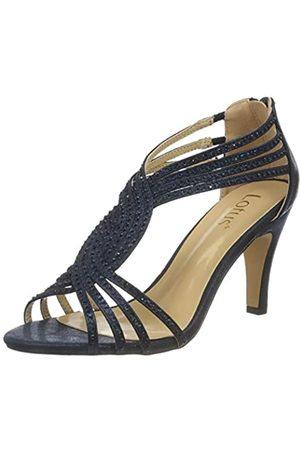 Lotus Nicole, Zapatos de tacón con Punta Abierta Mujer, (Navy Ej)