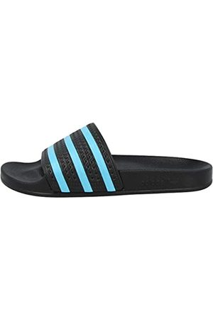 adidas Adilette, Slide Sandal Hombre, Core Black/Blue Glow/Core Black