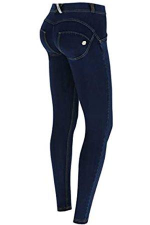 Freddy Pantalón WR.UP® Pitillo de Talle y Largo estándar de Oscuro - Jeans Scuro-Costuras Amarillo - Small