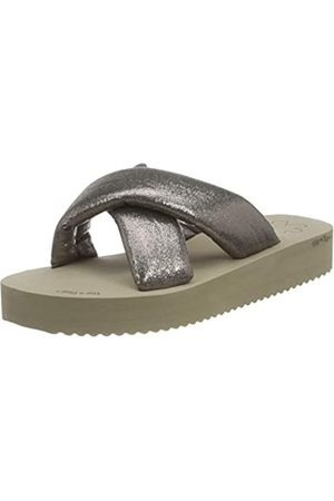 flip*flop Plateau Chic, Sandalias Mujer, Taupe/Bronce Oscuro 8850
