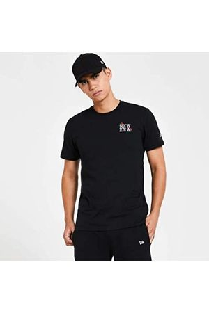 New Era Ne Rose Wordmark tee Camiseta de Manga Corta, Hombre, Black