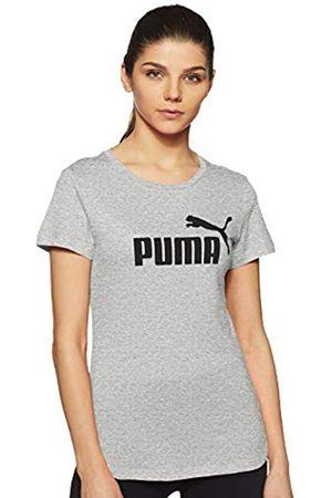 PUMA ESS Logo tee T-Shirt, Mujer, Light Gray Heather