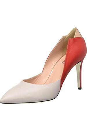 Pollini SA1003 - Zapatos de tacón con Punta Cerrada de Cuero Mujer, Color Multicolor