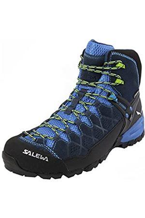 Salewa MS Alp Trainer Mid Gore-TEX, Botas de Senderismo Hombre, (Dark Denim/Cactus)