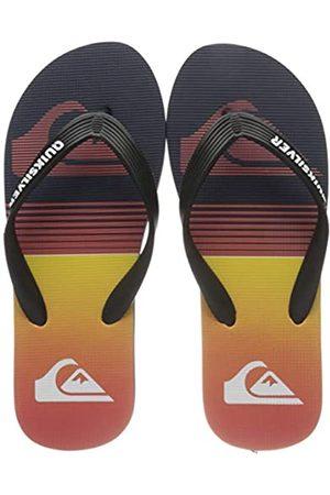 Quiksilver Molokai Slab, Flip-Flop Hombre, Black/Black/Orange