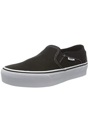Vans Asher Platform, Sneaker Mujer, ((Canvas) Black 3sy)