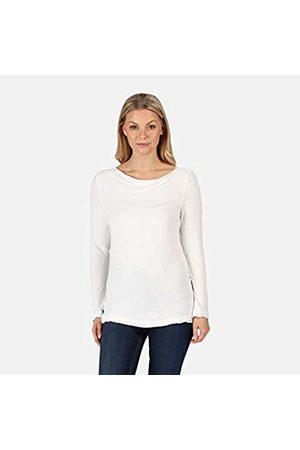 Regatta Frayler-Top De Manga Larga Y Cuello Vuelto Holgado T-Shirts/Polos/Vests, Mujer, White