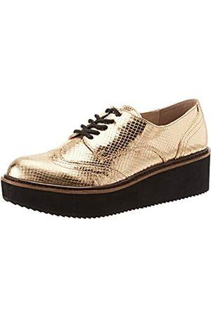 Steve Madden Lydia, Zapatos de Cordones Brogue Mujer, (Gold 001)