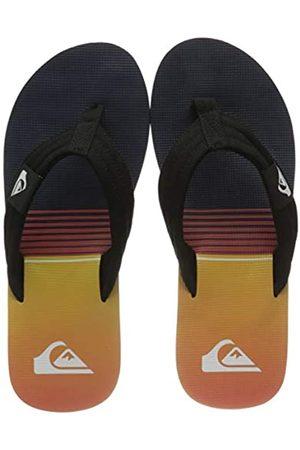 Quiksilver Molokai Layback, Flip-Flop Hombre, Black/Black/Orange
