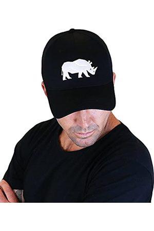 Sorai Gorra de Hombre Flexifit Negra con Bordado de Rinoceronte