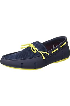 Swims Braided Lace Loafer, Mocasines para Hombre, (Navy/Yellow 546)