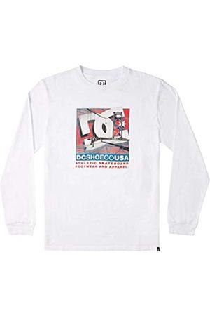 DC Dini - Camiseta De Manga Larga para Hombre Camiseta De Manga Larga, Hombre, White