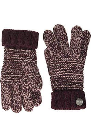 Regatta Frosty IV Guantes de Punto acrílico Gruesos cálidos para Mujer, Color Burdeos