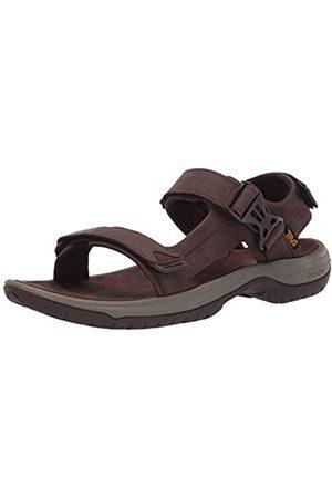 Teva Tanway Leather, Sandalias de Punta Descubierta Hombre, (Chocolate Brown Cobr)