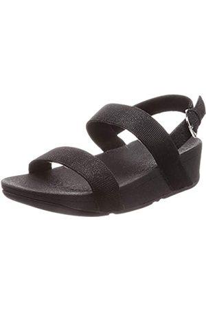 FitFlop Lottie Glitzy Sandal, Mujer, (Black 001)