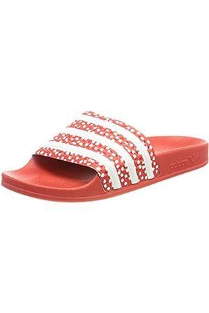 adidas Adilette, Slide Sandal Hombre, Footwear White/Vivid Red/Footwear White
