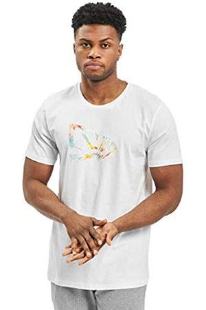 New Era Ne Flag Infill tee Tdy Camiseta de Manga Corta, Hombre, White