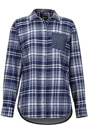 Marmot Wm's Lakota LTWT Flannel LS Camisa para Exteriores De Manga Larga, Camisa De Senderismo, con Protección UV, Transpirable, Mujer