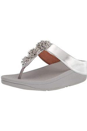 FitFlop Galaxy Toe-Thongs, Sandalia Mujer, 011-Silver