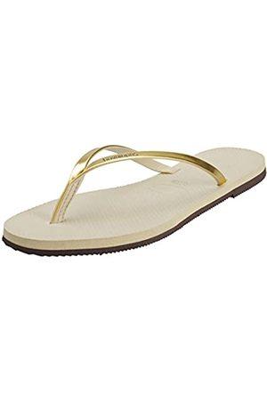 Havaianas You Metallic, Sandalias para Mujer, (Sand Grey/Light Golden)