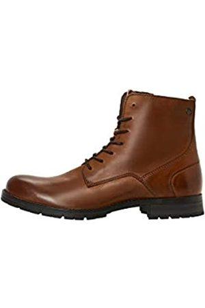 JACK & JONES JFWORCA Leather 19 STS, Chukka Boots Hombre, (Cognac Cognac)